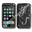Apple iPhone 3G/3GS Black Swarovski Cover (Initials)