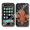 Apple iPhone 3G/3GS Black Swarovski Cover (Fleur-de-Lis)