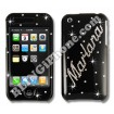 Apple iPhone 3G/3GS Black Swarovski Cover (Name)