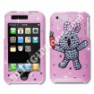 Apple iPhone 3G/3GS Pink Swarovski Cover (Bunny)
